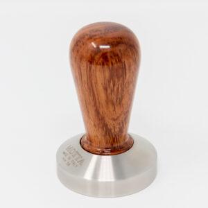 Metallurgica Motta Pressino Tamper Flach Holz und Edelstahl 58mm_PiazzaVenezia_bonn