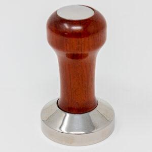 Tamper Flach Mahagoni Holz und Edelstahl 53mm